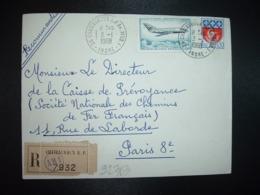 LR TP MYSTERE 20 2,00 + BLASON PARIS 0,30 OBL.3-1 1968 36 CHATEAUROUX RP AN.MOB. 1 INDRE (ANNEXE MOBILE) - Poststempel (Briefe)