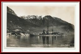 ★★ H.M.S. MALAYA I NORSKE FJORD Ca 1910 - 20 ★★ H.M.S. MALAYA NORWAY. FJORD. WAR FLEET, (WAR BOATS ) NORWAY ★★ - Norvegia