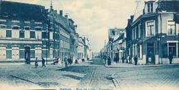 59 - Halluin - Rue De Lille - Carrefour - Animée - Etat Carte Découpée - Voir Scans Recto-Verso - Francia