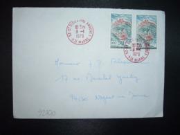 LETTRE TP SAINT FLOUR 0,60 X2 OBL. ROUGE 3-1 1979 52 ST DIZIER PPAL ANNEXE 1 HTE MARNE - Storia Postale