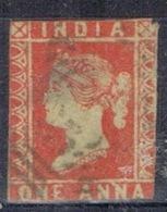 DO 15292 INDIA GESTEMPELD  YVERT NRS 3 ZIE SCAN - 1858-79 Compañia Británica Y Gobierno De La Reina