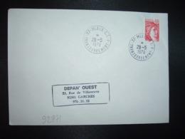 LETTRE TP SABINE 1,00 ROUGE OBL.28-5 1979 77 MEAUX C.T. TRANSBORDEMENT A - Storia Postale