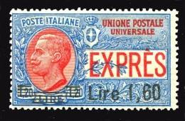 REGNO 1921 Espressi Lire 1,60 Su Lire 1,20 MNH ** Integro Espresso - 1900-44 Victor Emmanuel III.