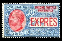 REGNO 1908  Espressi Cent. 30 C. MNH ** Integro Espresso - 1900-44 Victor Emmanuel III.