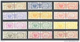 ITALIA REGNO 1927 1932 Pacchi Postali Fasci Littori 12v. LUSSO MNH ** Aquila Sabauda Fascio - Paketmarken