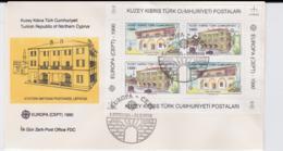 Turkish Cyprus FDC Souvenir Sheet 1990 Europa CEPT   (G105-37) - 1990