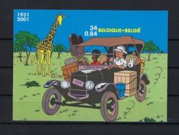 N°BL93ND Tintin (genummerd 68) MNH ** POSTFRIS ZONDER SCHARNIER COB € 350,00 SUPERBE - Belgique