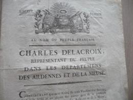Révolution Ardennes Meuse Charles Delacroix Réquisition Des Jeunes Précisions 7 Pages Belle Vignette - Historische Dokumente