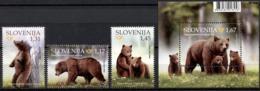 SLOVENIA SLOWENIEN SLOVÉNIE 2019 ANIMALS BEARS BÄR ORSO ** SET+S/S ** MNH - Bears