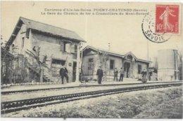 73. PUGNY CHATENOD. ENVIRONS D AIX LES BAINS. LA GARE DU CHEMIN DE FER - Other Municipalities