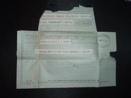 TELEGRAMME Griffe TELEPHONE + OBL. HOROPLAN 5-3 66 ANGOULEME TELEGRAPHE (16 CHARENTE) - Storia Postale