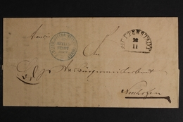 Mutterstadt, 1864 Gelaufen Nach Speyer, Vorphila-Beleg In Bedarfserhaltung - [1] ...-1849 Precursores
