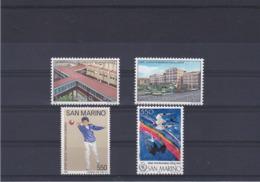 SAINT MARIN 1986  Yvert 1129-1130 +  1138 + 1142 NEUF** MNH - San Marino