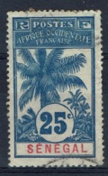 Senegal (French Colony), 25c., Palmtree 1906, VFU - Used Stamps