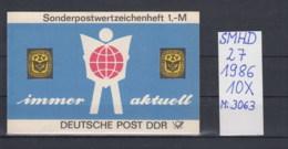 DDR Michel Kat.Nr.  SMHD Postfr 27  (Inhalt Gest 10x3063) - Markenheftchen
