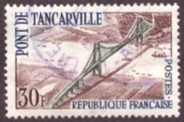 France 1959 -  The Tancarville Bridge TBE 30F - Usados