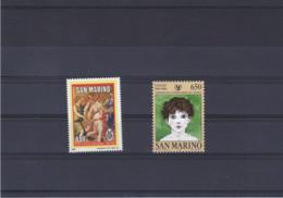 SAINT MARIN 1986 Yvert 1143-1144 NEUF** MNH - San Marino