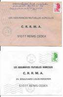 FLAMMES ARDENNES LOT 10 ENVELOPPES FR0034 - Poststempel (Briefe)