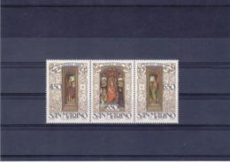 SAINT MARIN 1986 PEINTURES DE MEMLING NOËL Yvert 1145-1147 NEUF** MNH - San Marino