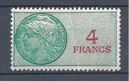 FRANCE FISCAUX DOUANES 4 Francs ** N° 17 Avec Un Pli - Fiscaux