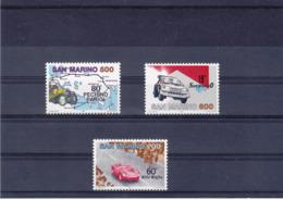 SAINT MARIN 1987 SPORTS AUTOMOBILE Yvert 1150-1152 NEUF** MNH - Neufs