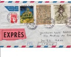 AFFRANCHISSEMENT COMPOSE SUR LETTTRE EXPRES DE LYON MONTROCHET 1972 - Poststempel (Briefe)