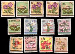 Sud Kasai 0001/13 Fleurs **  MNH - Sud-Kasaï