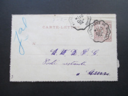 Monaco 1904 Ganzsache / Kartenbrief K 7 Stempel Principaute De Monaco Poste Restante Mit Stempel Cannes - Brieven En Documenten