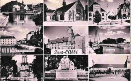 29 PONT L'ABBE Port, église Carmes, Caisse épargne, étang Moulin Château, Monument Bigoudens, Lycée 9 Vues - Pont L'Abbe