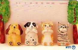 JAPON. PERROS DOGS - GATOS CATS. Cat And Dog Ornaments. JP-231-333 F. (146) - Gatos
