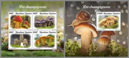 TOGO 2019 MNH Mushrooms Pilze Champignons M/S+S/S - OFFICIAL ISSUE - DH1946 - Funghi