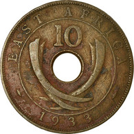 Monnaie, EAST AFRICA, George V, 10 Cents, 1933, TB+, Bronze, KM:19 - Colonie Britannique