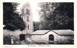 91 CHAMARANDE - L'église Et Le Lavoir - Autres Communes