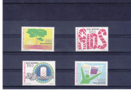 SAINT MARIN 1988 SIDA Yvert 1189-1192 NEUF** MNH - Neufs
