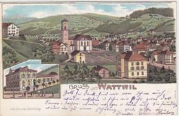 Gruss Aus Wattwil - Webschule - Litho - Verl.Joh.Stump - 1900           (P-191-61103) - SG St. Gall