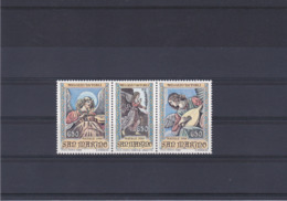 SAINT MARIN 1988 PEINTURES NOËL Yvert 1198-1200 NEUF** MNH - Neufs