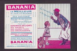 Image Publicité BANANIA Publicitaire Réclame Voir Scan Du Dos Ours En Peluche Présenté Déplié - Pubblicitari