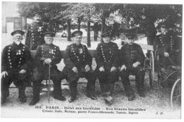 Paris Gros Plan Groupe De Soldats Invalides 1910 état Superbe - Métro Parisien, Gares