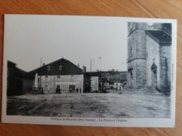Villars Le Pautel La Place Et L'église Haute Saône Franche Comté - Frankrijk