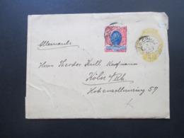 Brasilien Um 1900 Streifband 40 Reis Mit Zusatzfrankatur Landschaft Nr. 103 Nach Köln Gesendet! - Briefe U. Dokumente