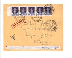 AFFRANCHISSEMENT COMPOSE SUR LETTTRE DE BORDEAUX 1969 - Storia Postale