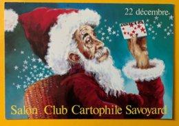 9168 - Salon Du Club Cartophile Savoyard 22 Décembre 1985 Père Noël - Bourses & Salons De Collections