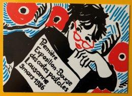 9169 - Première Exposition Bourse De Cartes Postales Lausanne 9 Mars 1986 - Borse E Saloni Del Collezionismo