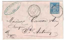 1878 - OBLITERATION CAD PERLÉ FACTEUR-BOITIER De PENNE DU TARN (FRAPPE SUPERBE) GARONNE Sur LETTRE LAC Pour ST ANTONIN - Marcophilie (Lettres)