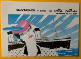 9170 - Beuvraignes 5e Bourse Aux Cartes Postales 31 Mai 1987 - Bourses & Salons De Collections