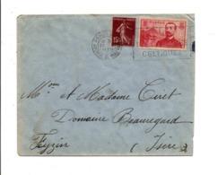 AFFRANCHISSEMENT COMPOSE SUR LETTRE DE PARIS 1937 - Marcophilie (Lettres)