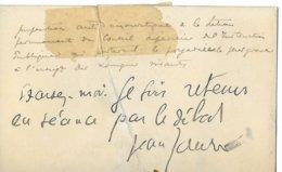 Jean Jaurés - Autogramme & Autographen