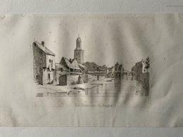 Les Tanneries D'Angers / Gravure XIXème Authentique, (j'ignore L'origine Du Document) - Stiche & Gravuren