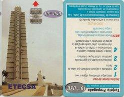 TELECARTE PHONECARDS TARJETAS TELEFONO CUBA INTERTEL 2 Tc R-v DIFF - Kuba