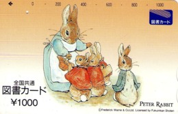JAPON. GIFT CARD. Peter Rabbit. JP-Tosho-rabbit-001-01. (156) - Tarjetas De Regalo